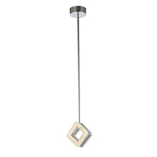 Artcraft AC7960 - Park Plaza 1 Light AC7960 Brushed Nickel & Chrome Chandelier