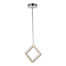 Artcraft AC7961 - Park Plaza 1 Light AC7961 Brushed Nickel & Chrome Chandelier
