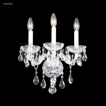 James R Moder 40463S22 - Palace Ice 3 Arm Wall Sconce