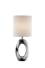 Lite Source Inc. LS-23183 - Table Lamp, Ceramic Body/white Fabric Shade, E27 Type A 60w