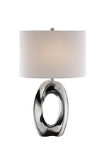 Lite Source Inc. LS-23184 - Table Lamp, Ceramic Body/white Fabric Shade, E27 Type A 150w