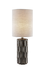 Lite Source Inc. LS-23190G - Table Lamp, Gunmetal Ceramic Body/fabric Shade, E27 A 60w
