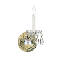 Crystorama 1121-CH-CL-MWP - Crystorama Traditional Crystal 1 Light Clear Crystal Chrome Sconce II
