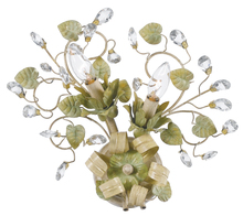 Crystorama 4842-CT - Crystorama Josie 2 Light Champagne Green Tea Sconce