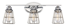 Trans Globe 21193 PC - 3LT-SCONCE TRI STEEL CAGE-PC