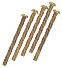 Westinghouse 7063600 - 5 Round Head Screws Brass-Plated Steel