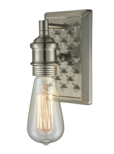 Innovations Lighting 563-1W-BN - Bare Bulb Diamond Plate Wall Sconce