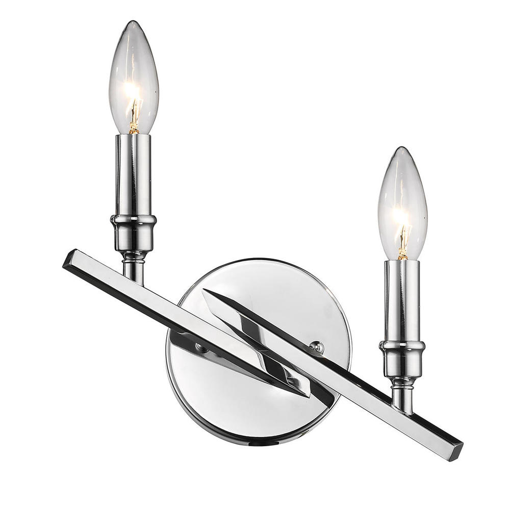 Lighting Solutions in Ringoes, New Jersey, United States,  2360-2W CH, 2 Light Wall Sconce, Garvin CH