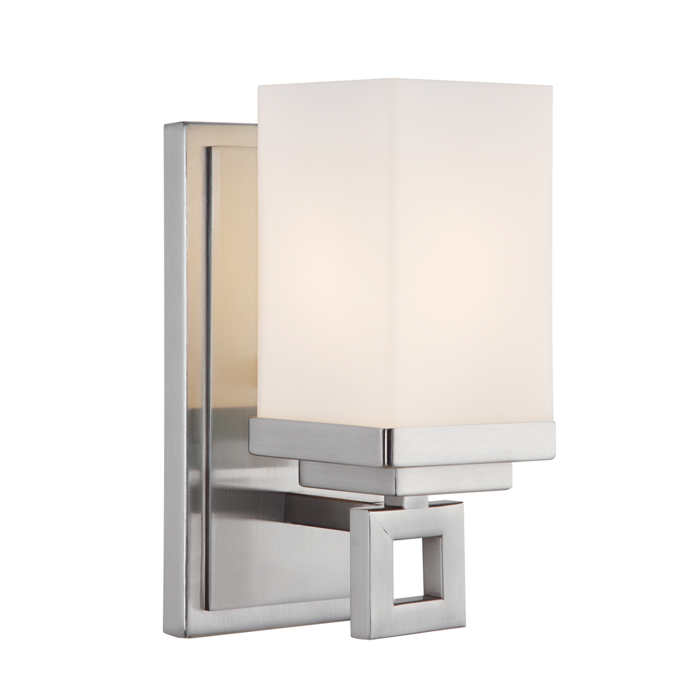 Lighting Solutions in Ringoes, New Jersey, United States,  4444-BA1 PW, 1 Light Bath Vanity, Nelio