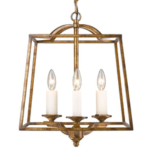 Golden 3072-3P GG - 3 Light Pendant