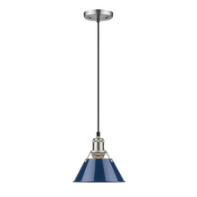 Golden 3306-S PW-NVY - Mini Pendant - 7""