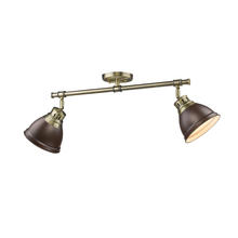 Golden 3602-2SF AB-RBZ - Semi-Flush - Track Light