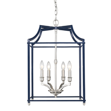 Golden 8401-4P PW-NVY - 4 Light Pendant