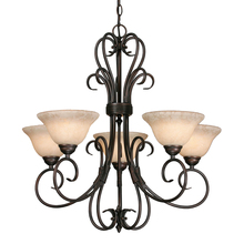 Golden 8606-5 RBZ-TEA - 5 Light Chandelier