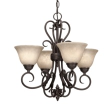 Golden 8606-GM4 RBZ-TEA - 4 Light Mini Chandelier