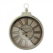 Sterling Industries 118-042 - Carte Postal Clock With Antique Cream Metal Frame
