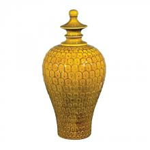 Sterling Industries 152-014 - Medium Lidded Ceramic Jar In Chartruese Glaze
