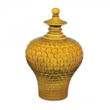 Sterling Industries 152-015 - Large Lidded Ceramic Jar In Chartruese Glaze