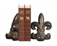 Sterling Industries 87-2037 - Pair Noir Fleur De Lis Bookends