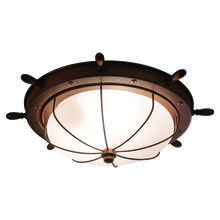 "Vaxcel International OF25515RC - Nautical 15"" Outdoor Ceiling Light"