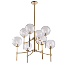 Steven & Chris SC13128SB - Hamilton SC13128SB 8 Light Chandelier