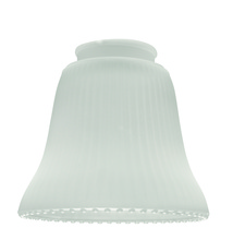 "Ellington Fan 505 - 2 1/4"" Fan Glass, Ribbed Bell Shaped in Frosted Ribbed"