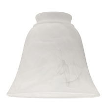 "Ellington Fan 635A - 2 1/4"" Fan Glass, Bell Shaped in Alabaster"