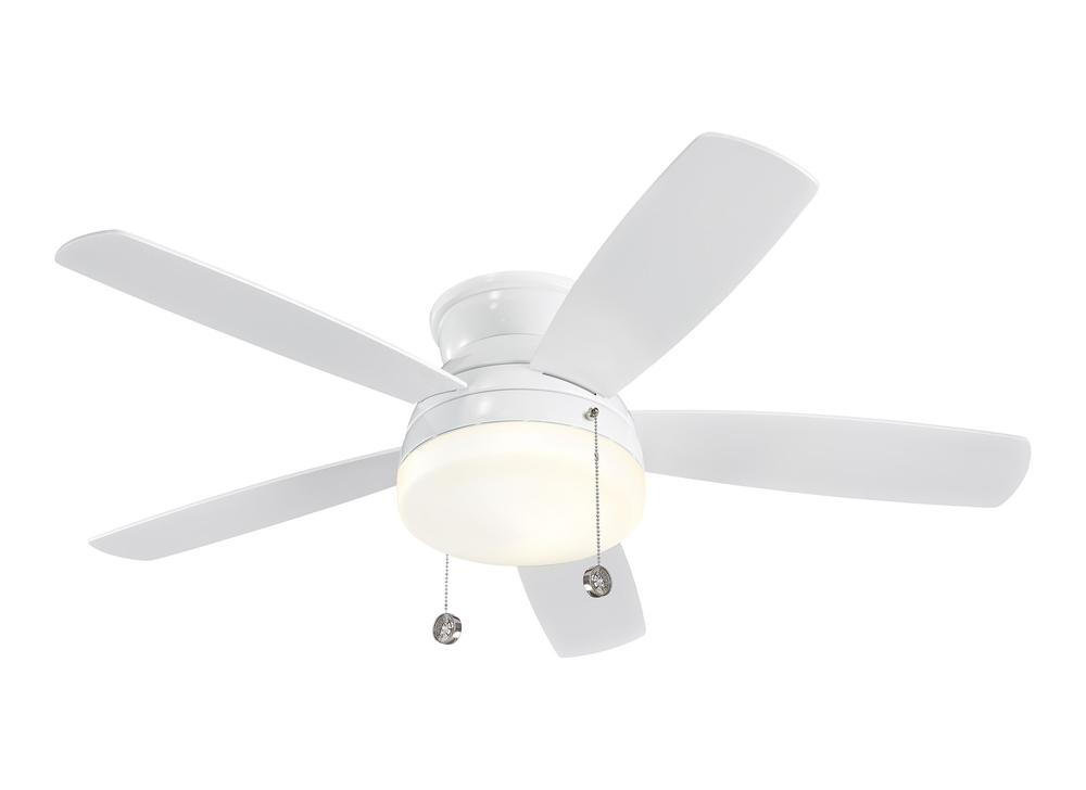 "Lighting Solutions in Ringoes, New Jersey, United States,  5TV52WHD, 52"" Traverse Semi-Flush Fan - White, Traverse"