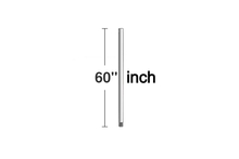 Monte Carlo DR60BP - 60' Downrod - Brushed Pewter