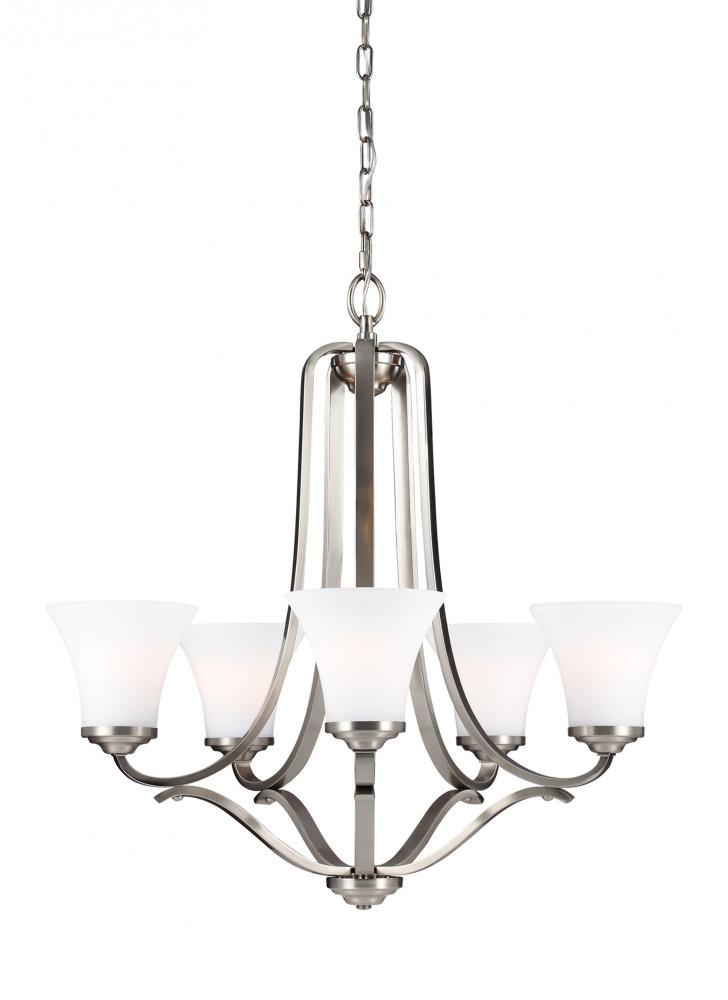 Lighting Solutions in Ringoes, New Jersey, United States,  F3065/5SN, 5 - Light Chandelier, Hamlet