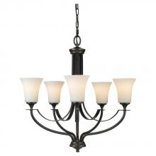 Feiss F2252/5ORB - 5- Light Single Tier Chandelier
