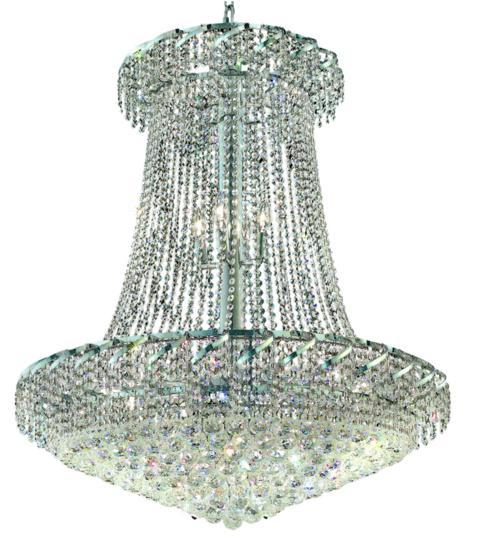 Belenus Collection Chandelier D:36in H:42in Lt:22 Chrome Finish (Royal Cut Crystals)