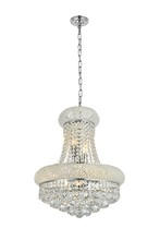 Elegant V1800D16C/RC - 1800 Primo Collection Pendant D:16in H:20in Lt:8 Chrome Finish (Royal Cut Crystals)
