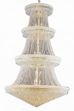 Elegant V1800G62G/RC - 1800 Primo Collection Chandelier D:62in H:96in Lt:56 Gold Finish (Royal Cut Crystals)