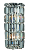 Elegant V2030W8C/RC - 2030 Maxime Collection Wall Sconce D:8in H:16in E:4in Lt:2 Chrome Finish (Royal Cut Crystals)