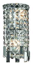 Elegant V2031W6C/RC - 2031 Maxime Collection Wall Sconce D:6in H:13in E:4in Lt:2 Chrome Finish (Royal Cut Crystals)