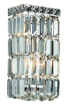 Elegant V2032W6C/RC - 2032 Maxime Collection Wall Sconce D:6in H:12in E:4in Lt:2 Chrome Finish (Royal Cut Crystals)