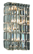 Elegant V2032W8C/RC - 2032 Maxime Collection Wall Sconce D:8in H:16in E:4in Lt:4 Chrome Finish (Royal Cut Crystals)