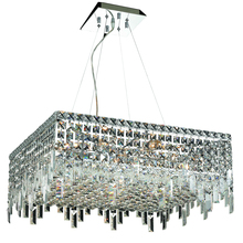 Elegant V2033D24C/RC - 2033 Maxime Colloection Chandelier L:24 in W:24in H:10.5in Lt:12 Chrome Finish (Royal Cut Crystals)