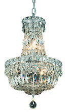 Elegant V2528D12C/RC - 2528 Tranquil Collection Pendant D:12in H:16in Lt:6 Chrome Finish (Royal Cut Crystals)