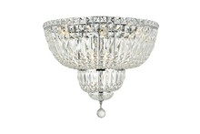 Elegant V2528F20C/RC - 2528 Tranquil Collection Flush Mount D:20in H:16in Lt:10 Chrome Finish (Royal Cut Crystals)