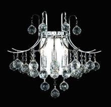 Elegant V8000W16C/RC - 8000 Toureg Collection Wall Sconce D:16in H:14in E:9.5in Lt:3 Chrome Finish (Royal Cut Crystals)