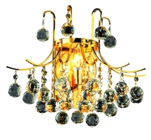 Elegant V8000W16G/RC - 8000 Toureg Collection Wall Sconce D:16in H:14in E:9.5in Lt:3 Gold Finish (Royal Cut Crystals)