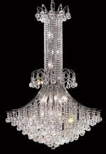 Elegant V8006G35C/RC - 8006 Toureg Collection Chandelier D:35in H:48in Lt:16 Chrome Finish (Royal Cut Crystals)