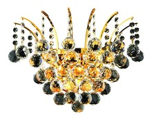 Elegant V8031W16G/RC - 8031 Victoria Collection Wall Sconce D:16in H:13in E:8in Lt:3 Gold Finish (Royal Cut Crystals)