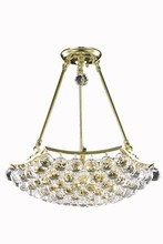 Elegant V9802D18G/RC - 9802 Corona Collection Pendant D:18in H:16in Lt:3 Gold Finish (Royal Cut Crystals)