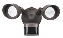 Elegant MSL1002 - LED Security Light (Double Head)24W 120V-240V LM1800 5000KDark Bronze