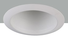 "Elegant REM300WH - 6"" Line voltage White Cone Baffle Trim"