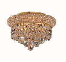 Elegant V1800F10G/RC - 1800 Primo Collection Flush Mount D:10in H:7in Lt:3 Gold Finish (Royal Cut Crystals)