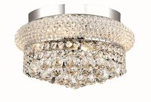Elegant V1800F12C/RC - 1800 Primo Collection Flush Mount D:12in H:6in Lt:4 Chrome Finish (Royal Cut Crystals)